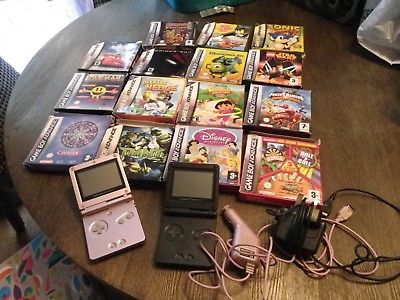 Nintendo Gameboy Advance Sp x2 and Bundle of retro games