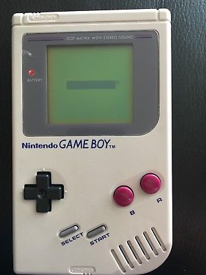 ORIGINAL NINTENDO GAME BOY 1989 SPARES/ REPAIR With Case And 4 Games