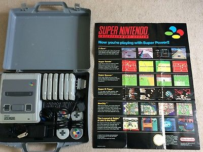 Super Nintendo with rare Carry Case - 5 games & 2 Controllers