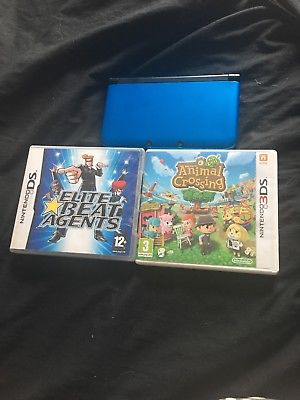 Blue Nintendo 3DS XL. US Console. With 2 GAMES ! Superb Condition.
