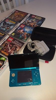 Nintendo 3DS Turqoise with Games