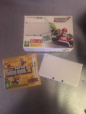 Nintendo 3DS XL Mario Kart 7 White Handheld System