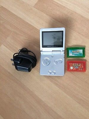 Game Boy Advance SP Silver Handheld System (GBASP-S-NR)