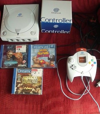 Sega Dreamcast White Console (PAL). Tested. Fully working, Region Free, FREE P&P