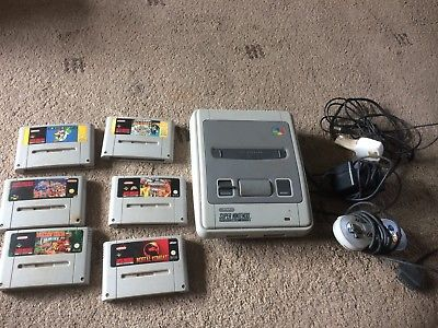 Super Nintendo Entertainment System White Console